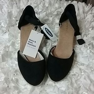 New Black Old Navy Wedge Espardilles